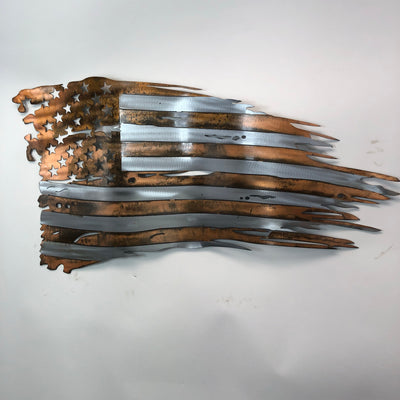 Copper Wavy Weathered Old Glory