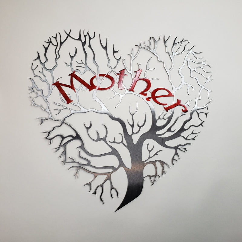 Mother's heart shaped tree