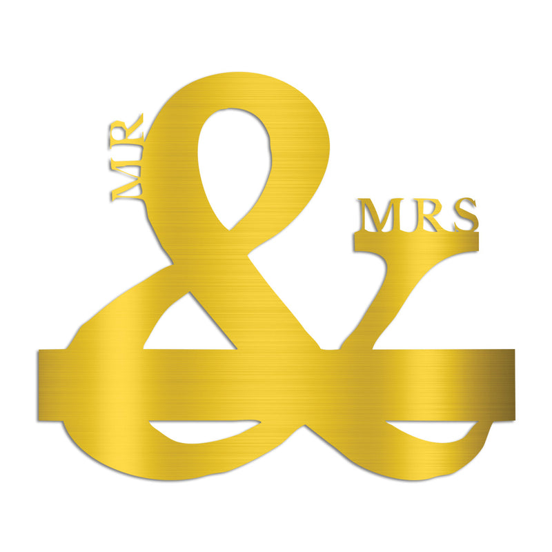 Mr and Mrs Powder Coated Monograms