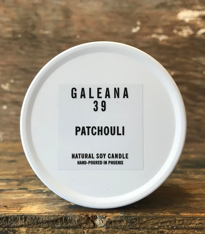 6.5 oz Tin Patchouli Soy Candle