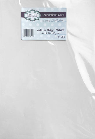 Creative Expressions Foundations Vellum Bright White