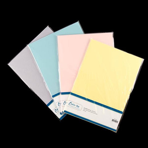 Crafts Too A4 Linen Soft Pastels Card Pack