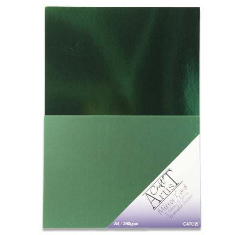 Craft Artist Mirror Card A4 - Emerald Green 250gsm