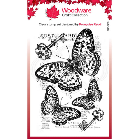 Woodware clear stamp - Three Butterflies