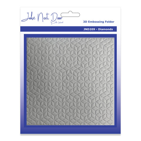 John Next Door 3D Embossing Folder - Diamond