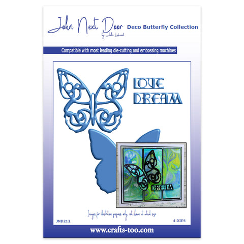 John Next Door Deco Butterfly Collection - Large Deco Butterfly (4pcs)