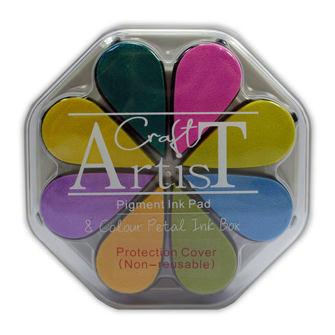 Craft Artist Pigment Ink Petals - Spring - 8 Colours