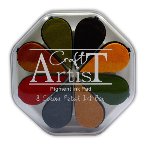Craft Artist Pigment Ink Petals - Autumn - 8 Colours