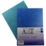 Craft Artist Blue Glitter Card
