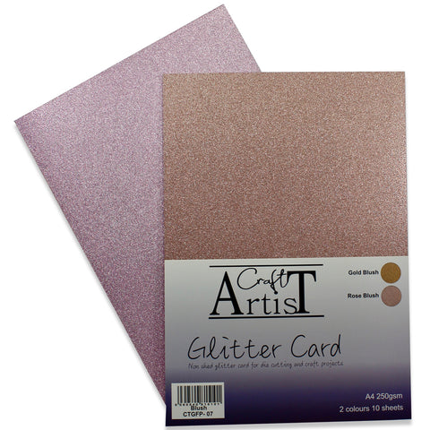Craft Artist Blush Glitter Card
