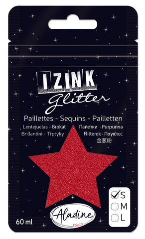 Izink Superfine Glitter - Rouge (Christmas Red)