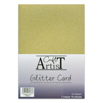 Craft Artist A4 Glitter Card - Gold
