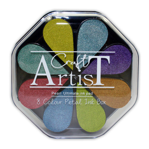 Craft Artist Pigment Ink Petals - Pearl - 8 Colours