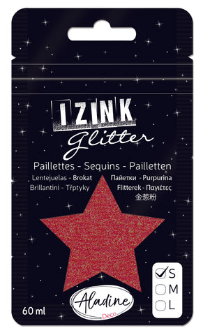 Izink Superfine Glitter - Rouge 2 (Red Holographic)