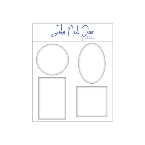 Set of Four Media Plates- Rectangle, Oval, Circle and Square