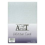 Craft Artist A4 Glitter Card - Silver