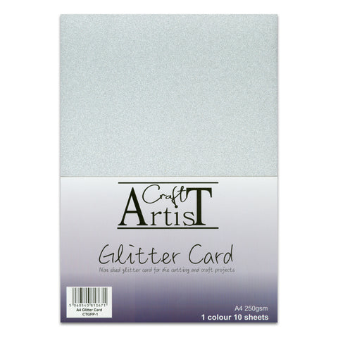 Craft Artist Silver Glitter Card