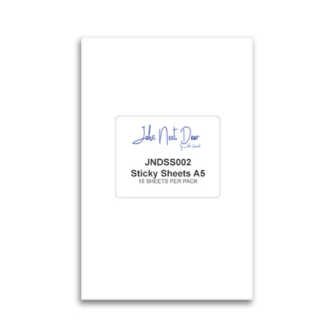 John Next Door A5 Double Sided Sticky Sheets