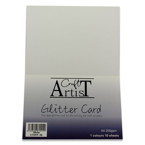 Craft Artist White Glitter Card