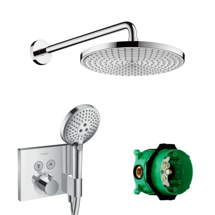 Hansgrohe Shower Select|恆溫花灑組|簡約壁埋式|shower system