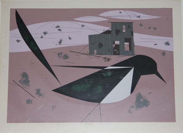 Charley Harper Ford Times Print Black Billed Magpie