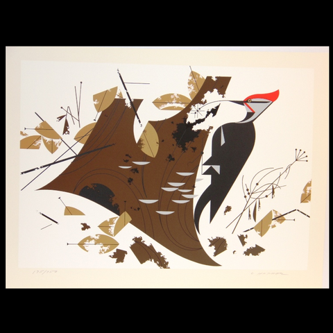 Charley Harper Serigraph Print Antypasto Pileated Woodpecker