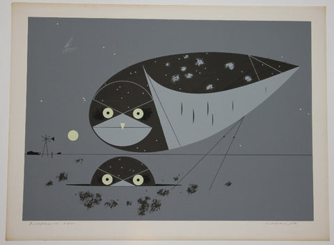 Charley Harper Ford Times Print Burrowing Owl