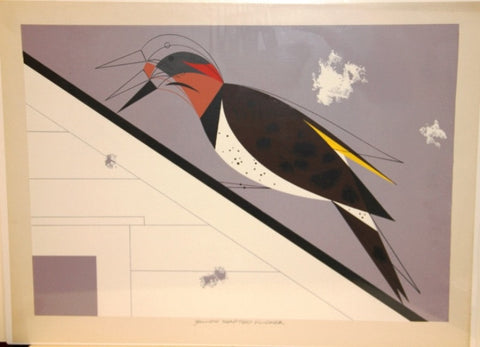 Charley Harper Ford Times Print Flicker Yellow Shafted