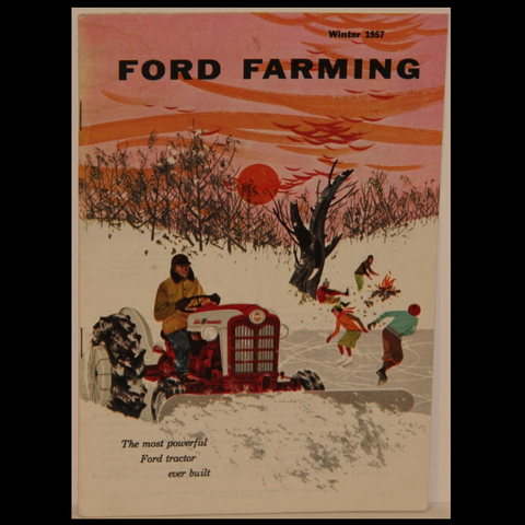 Charley Harper Ford Farming Winter 1957