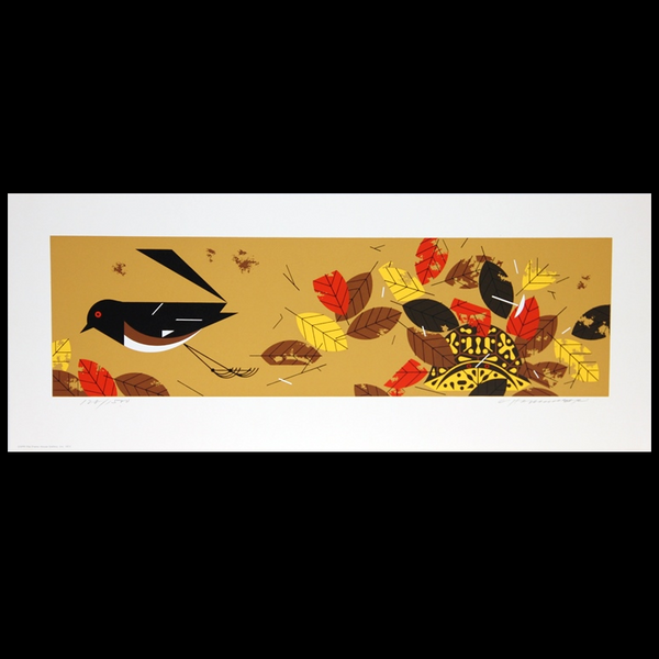 Charley Harper Serigraph Print Homebody Box Turtle
