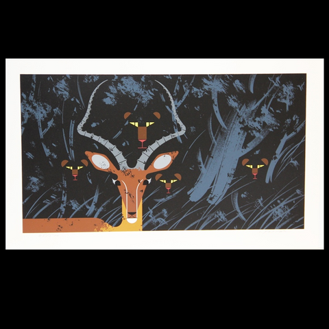 Charley Harper Serigraph Print Hungry Eyes
