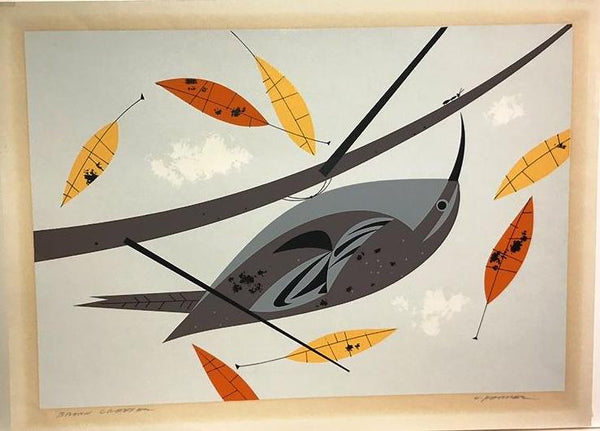 Charley Harper Ford Times Print Brown Creeper (Hand Signed)