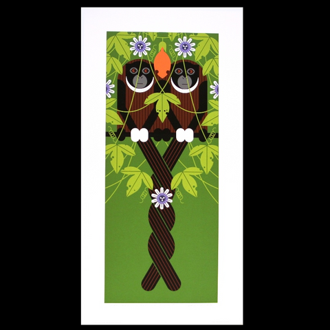 Charley Harper Serigraph Print Love On A Limb