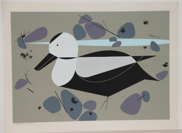 Charley Harper Ford Times Print Labrador Duck