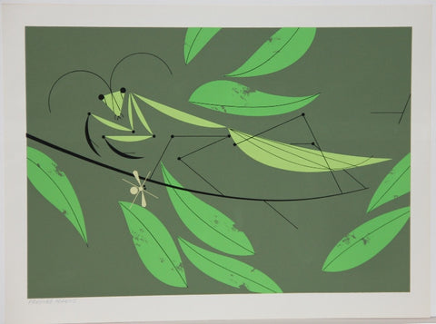 Charley Harper Ford Times Print Mantis Yellow Bug
