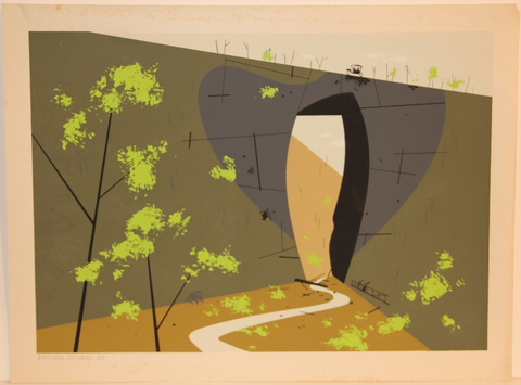 Charley Harper Ford Times Print Natural Bridge Virginia
