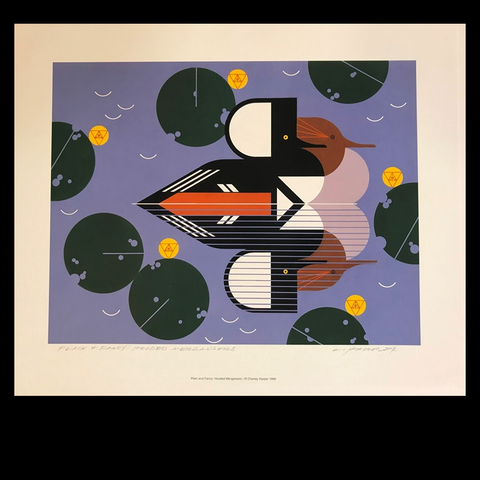 Charley Harper Lithograph Print Plain And Fancy
