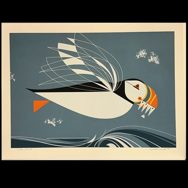 Charley Harper Serigraph Print Puffin