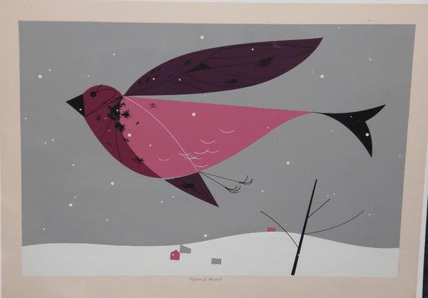 Charley Harper Ford Times Print Purple Finch