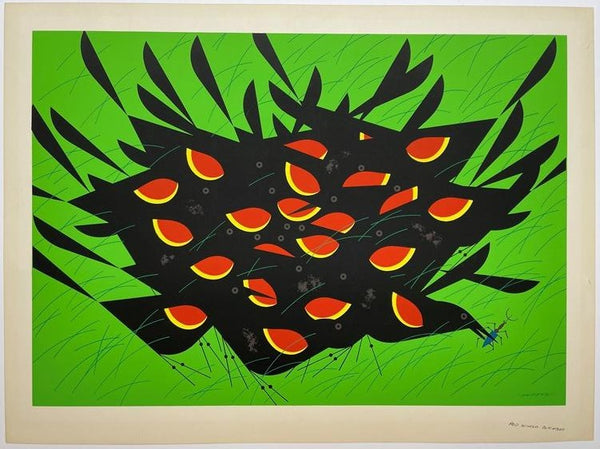 Charley Harper Ford Times Print Red Winged Blackbirds II