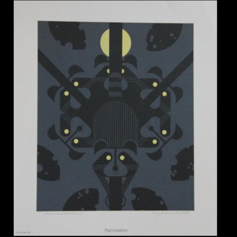 Charley Harper Lithograph Print Raccreation