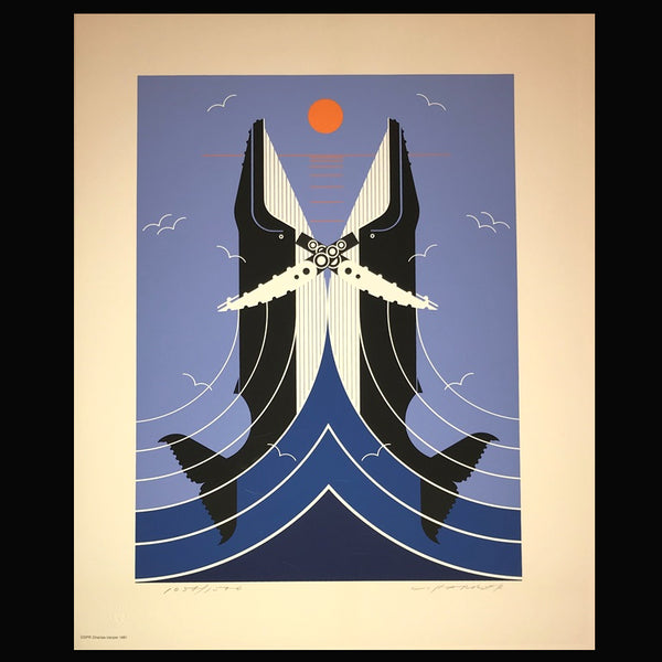 Charley Harper Serigraph Print Romance On The Richter Scale
