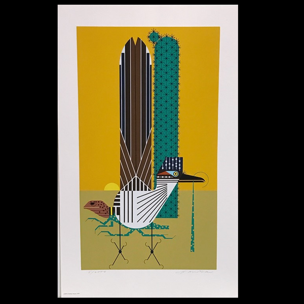 Charley Harper Serigraph Print Tall Tail