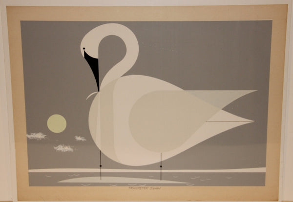 Charley Harper Ford Times Print Trumpeter Swan