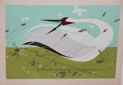 Charley Harper Ford Times Print Whooping Crane