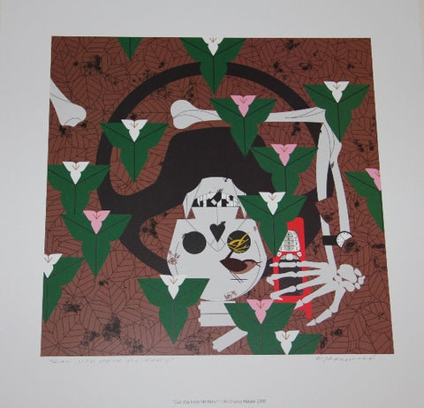 Charley Harper Lithograph Print Can You Hear Me Now?