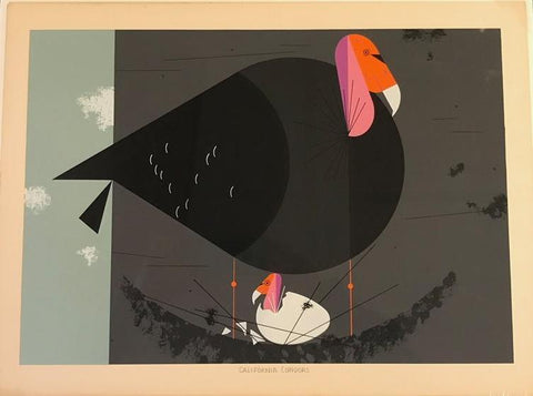 Charley Harper Ford Times Print California Condor