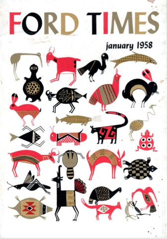 Charley Harper Ford Times Magazine 1958 January