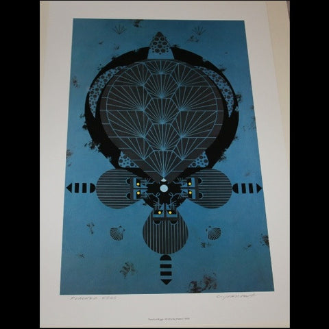 Charley Harper Lithograph Print Poached Eggs