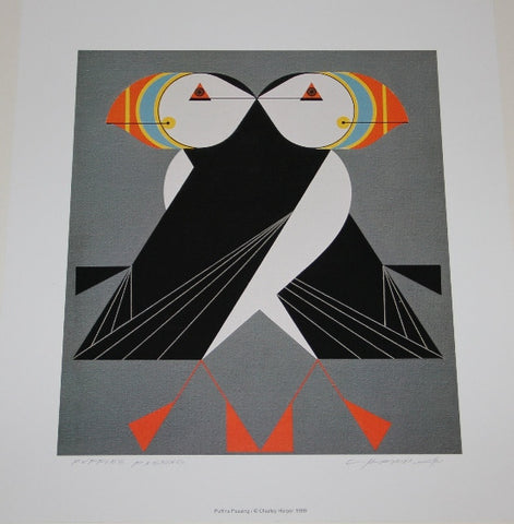 Puffins Passing (Hand Signed) Charley Harper